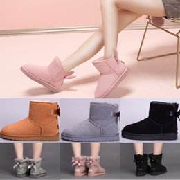 Wholesale Ankle Boots Size 41 - High Quality WGG Women's Australia Classic tall Boots Women girl Student boots Boot Snow Winter black blue boots leather shoes size 36-41