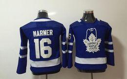 Wholesale Boys Size 16 - 2017 New Kids Hockey Jerseys Maple Leafs #16 Marner Jersey Blue Color Youth Jersey Size S M L XL Mix Order Stitched All Jerseys