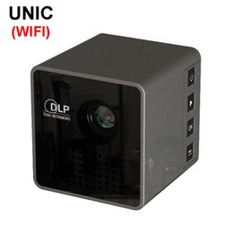 Wholesale Mobile Wireless Wifi - Wholesale- Original UNIC P1+ WIFI Wireless Mobile Projector Support Miracast DLNA Pocket Home Movie led DLP MINI Projector Proyector Beamer