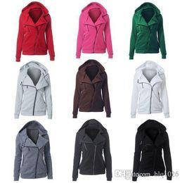 Wholesale Hooded Sweatshirts Zipper Women - 2017 Spring Women Ladies Hooded Jacket Female Long Sleeve Hoodies Sweatshirts Zipper Jackets Free Shipping