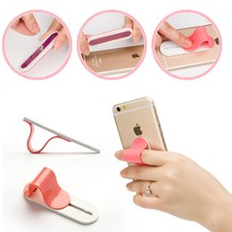 Wholesale Promotion Stand - MULTI BAND Creative Finger Ring Mobile Phone Smartphone Stand Holder for iphone samusung huawei Promotion gift Christmas gift creative phone