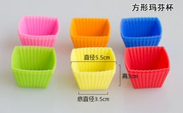 Wholesale Star Silicone Mold - Cute Food Safe Silicone Star Cake Mold Muffin Cups Puffs Pudding Ice Lattice Mold Cupcakes Dies Multi Colors Candy Mold