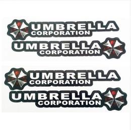 Logo umbrella corporation resident böse online-4 Teile / los Resident Evil Umbrella Corporation Logo Kleber Aufkleber Auto Aufkleber Abdeckungen Wasserdicht für Alle autos auf Auto Griffknauf