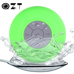 water resistant bluetooth shower speaker Promo Codes - Wholesale- Hot BTS-06 Water Resistant Mini Portable Shower Bluetooth Speaker with Sucker Support Hands-free Calls Function for Mobile Phone