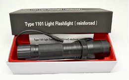 Wholesale Linternas Cree - Hot Sale New 1101 Type Edc Linternas Light Cree Led Tactical Flashlight Lanterna Self defense Torch 18650(built-in Battery)