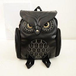 Wholesale Cell Phone Waterproof Cover - 2017 Owl Cartoon Fashion Backpack Women PU Leather School Bags for Teenagers Girls Travel Shoulder Bags Waterproof Back Bags Mochila