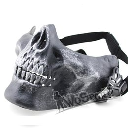 Wholesale Military Skeleton Mask - New Tactical Mask Hood WoSporT V3 Half Face Skull Masks High Quality Skeleton Airsoft Protect Mask Halloween Cosplay Hunting Gear 6 Colors
