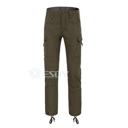 Wholesale Stop Flies - Tactical Pants Multi-Bag Trousers Men 's Outdoor sport Camping Hunting Pants man esdy Tactical gear 3 color Army green S-XXXL
