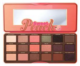 Wholesale 18 Color Eyeshadow - 2017 Hot Sweet Peach 18 color Eye Shadow Makeup Eyeshadow Palette Glitter Eyeshadow dhl free shipping