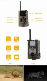 câmera escondida ao ar livre Desconto Atacado-GSM / MMS impermeável IP54 uso ao ar livre animais selvagens escondidos câmera de caça mms HC500M