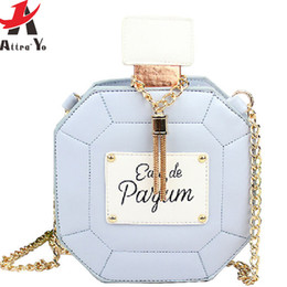 Wholesale High Quality Perfume Women - Wholesale-Attra-Yo! 2016 new women bag clutch chain bags perfume bottle women messenger bags purse evening bag high quality pouch LS4386ay