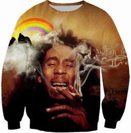 Wholesale bob animals - Newest Fashion Women Men Reggae Star Bob Marley Funny 3D Printed Casual Sweatshirts Hoody Tops S---5XL B6