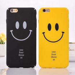 Wholesale Iphone Nice Design Case - New Design Lovely Cartoon Smiling Cell Phone Case For Apple iPhone5 i6 i6Plus i7 i7Plus Black Yellow Hard PC Nice Case