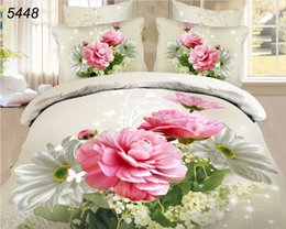 Wholesale Champagne Bedding Sets - Champagne rose 3d bedding sets free shipping countries bedclothes linen duvet cover set bedding bedsheet beige no towel 5448