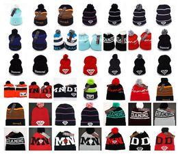 Wholesale Cheap Beanie Hats Free Shipping - 2016 HOT SALE Newest football Beanie Hats Diamond Knitted Sports Skull Caps Men Women Warm Wool Cap Fashion HIP HOP Cheap Free shipping