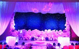 Wholesale Led Backdrops Curtain - 3mx6m LED Wedding Party Curtain LED Star Cloth Black Stage Backdrop LED Star Cloth Curtain Light Wedding Decoration
