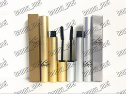 Wholesale Lashes Box - Factory Direct DHL Free Shipping New Makeup Lips Silver Gold Box Lash Mascara Waterproof Mascara With The Box!Black