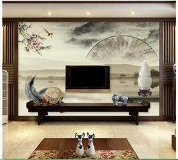 papierlüfterwand Rabatt Hohe Qualität Benutzerdefinierte 3d decke tapete wandbilder tapeten Antiken China sub hintergrund wand fan decke wandbilder wohnzimmer dekoration