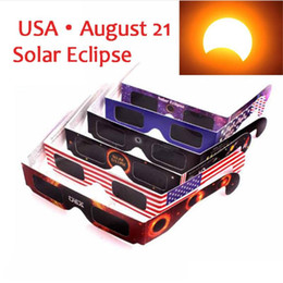 Wholesale Usa Papers - 2017 USA Solar Eclipse Glasses Paper Solar Glass Viewing Eyeglasses Protect Your Eyes Safe When 21th August Free Shipping