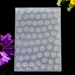 Wholesale Christmas Card Templates - Wholesale- Christmas Snowflake Plastic Embossing Folder For Scrapbook DIY Album Card Tool Plastic Template 10.5x15cm KW672211