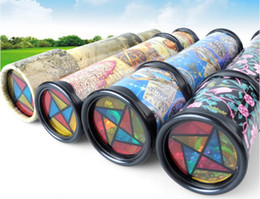 Wholesale Wholesale Kaleidoscope Toy - Large revolving kaleidoscope of magic and magic in the interior of the tube with paper children's kindergarten toys