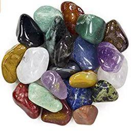 200g Assorted Tumbled Chips misto Stone Crushed lucido Crystal colorato Quartz Pietre ovali a forma di pietre healing reiki decorazione casa da miniature alimentari all'ingrosso fornitori
