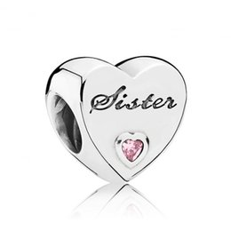 Wholesale Animals Pandora Silver - Love Heart Charm Solid 925 Silver Fit Pandora Bracelets Factory Wholesale