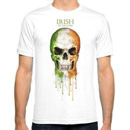Wholesale Fashion Ireland - Ireland flag New Fashion Man T-Shirt Cotton O Neck Mens Short Sleeve Mens tshirt Male Tops Tees Wholesale
