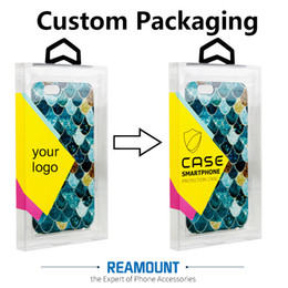 Wholesale Diy Iphone Cases - wholesale Retail DIY Custom LOGO Transparent PVC Packaging Colorful Hanger Box for iphone 7 7 plus Cell Phone Case with Inner Tray