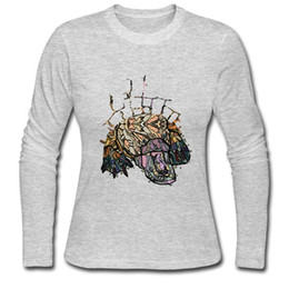 Wholesale Cool Abstract Art - Art design long-sleeve tshirts new season woman fashion t-shirt unique printed girl street cool top clothes ABSTRACT PLATYPUS