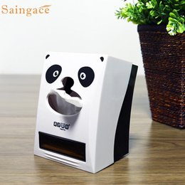 Wholesale White Toothpick Holder - Wholesale- iLH Modern ABS Material Panda Pattern Tissue Box with Toothpick Holder White Wonderful