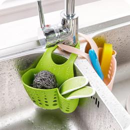 Wholesale Basket Tools - Portable Home Kitchen Hanging Drain Bag Basket Bath Storage Tools Sink Holder