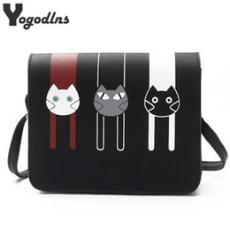Wholesale Mini Bags For Women - 2017 Fashion Mini Bags for Women Cross Body Bags Ladies Handbag Shoulder Bags with Cute Cat PU Leather Female Messenger Tote Bag
