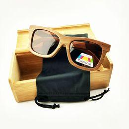 Wholesale Skateboard Wood Sunglasses - 2016 New skateboard wood Sunglasses summer Eyewear Eyeglasses with polarized lens free shipping