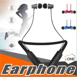 Wholesale Necklace Earphones - HWS610 Earphone Necklace Bluetooth Headset Earphone Sports Bluetooth High Quality With Package for iphone X 8 plus Samsung Note8 huawei LG