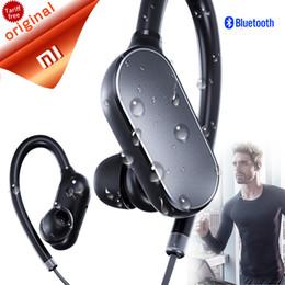Wholesale Waterproof Mp3 Bluetooth Headphones - Wireless Headphones Sports Bluetooth 4.1 Wireless Headphones Music Earphones Mic IPX4 Waterproof Wireless Headset for Mi6 fone de ouvido