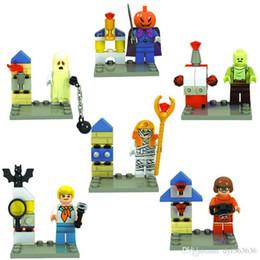 2019 scooby doo juguetes 6 Unids / set Halloween Scooby Doo Fred Shaggy Figura Bloques de Construcción Ladrillos Juguetes Figura de Acción Juguete para Niños Compatible con L rebajas scooby doo juguetes