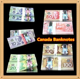 Wholesale Wholesaler Canada - 500Pcs Canada Banknotes Set 100 50 20 10 5 Bank Staff Training Learning Banknotes Poker Chip Arts Gifts Home Decoration Arts Crafts