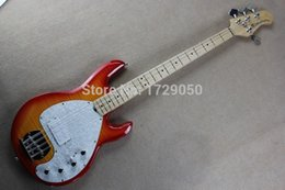 Wholesale String Guitars Ernie Ball - Wholesale-Free shipping Real photos High Quality Ernie Ball Musicman Sting Ray 4 Strings Active Pickup CS Color Electric Bass Guitar 1111