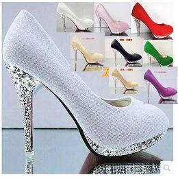 Wholesale Sexy Beige Platform Heels - wholesale sexy crystal wedding sexy high heel plating heel round nose platform dress red bridesmaid dress shoe