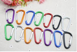 Wholesale Wholesale Keychain Rings Clips - Carabiner Ring Keyrings Key Chain Outdoor Sports Camp Snap Clip Hook Keychain Hiking Aluminum Metal Stainless Steel Hiking Camping free ship