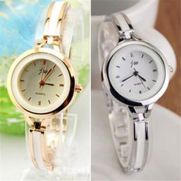 Wholesale Easy Read Watch - Wholesale- Women Modern Alloy Bracelet Watch Easy To Read Round Dial Quartz Analog
