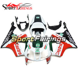 Wholesale Rc51 Fairings - Complete White Red Green Fairing For Honda VTR1000 RC51 SP1 SP2 00 01 02 03 04 05 06 Compression ABS Motorcycle Fairing Kit Bodywork Cowling