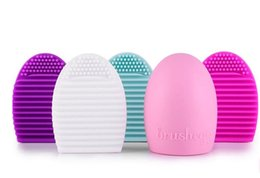 Wholesale Clean Up - 1 Pc Lot Brushegg Silicone Brush Cleaning Brushes Egg Cosmetic Brush Cleanser Make Up Makeup Brush Cleaner Clean Tools