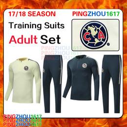 Wholesale Wholesale Soccer Suits - 2017 18 Club America Soccer Training Suits Uniforms Shirts Camiseta de Futbol América Survetement Tracksuits Soccer Sets size S-3XL free DHL