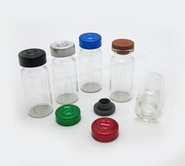 Wholesale Glass Injection Bottles - 10ml Clear Injection Glass Vial With Metal Flip Off Cap 1 3oz Transparent Glass Bottle 10cc Glass Containers
