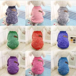 Wholesale Candy Puppy - XS-XXL Candy Color Sweater Pet Dog Clothes Coat Jacket Puppy Small Dogs Cat Costume Apparel Hoodies Chihuahua Yorkie Warm Soft