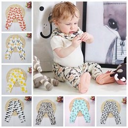 Wholesale Spring Harem Trousers - Baby INS PP Pants Kids Animal Fox Tent Wheels Geometric Figure Harem Pants Toddlers Fashion Trousers Ins Leggings Lemon Haroun Pants F320