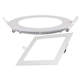 Wholesale Plastic Panels - Competitive price New square led recessed panel lamp aluminum plastic ceiling panel with 4w 6w 9w 12w 18w AC85-265V