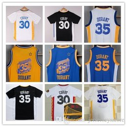 Wholesale Cheap Xxl Clothes - New Arrival 35 Kevin Durant Chinese Jersey blue white black yellow 30 Curry Shirt Stitched Jerseys clothing cheap giants Free Shipping
